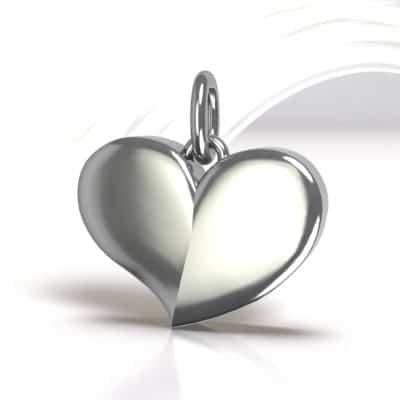 Ashanger hart groot, zilver