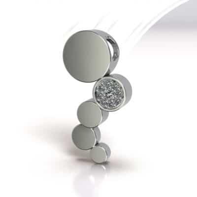 Ashanger Rondjes fantasie Swarovski zirkonia, zilver