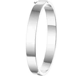 Slavenband scharnier massief rechthoek  8 x 60 mm zilver