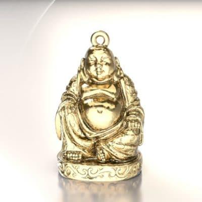 Ashanger Buddha, geelgoud