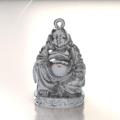 Ashanger Buddha, zilver