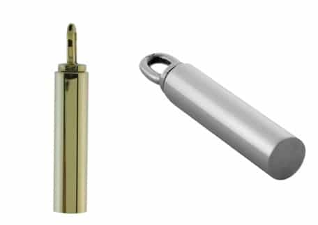 Ashanger buis rond 13 x 6 mm, zilver