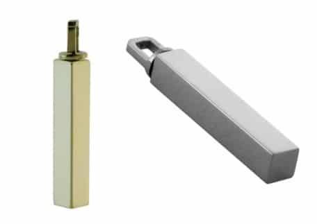 Ashanger buis vierkant 28 x 4 mm, zilver