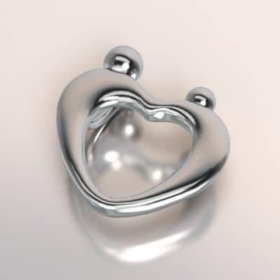 zilveren hanger hartvormig voor moeder en tiener