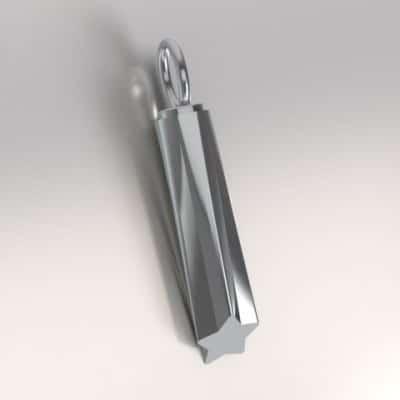Ashanger ster buis, zilver