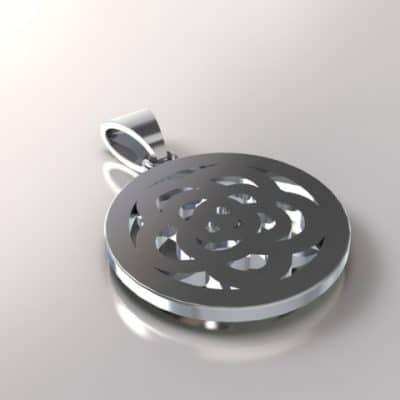 Ashanger Bloem gestileerd, zilver