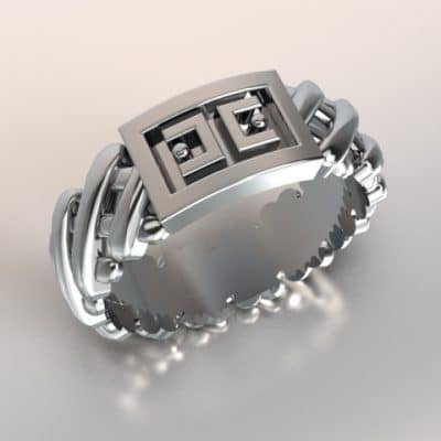 As Cross-ring met opdruk ANOUK-serie, zilver
