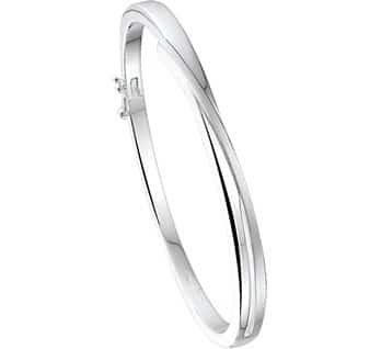 Asarmband spang recht, zilver
