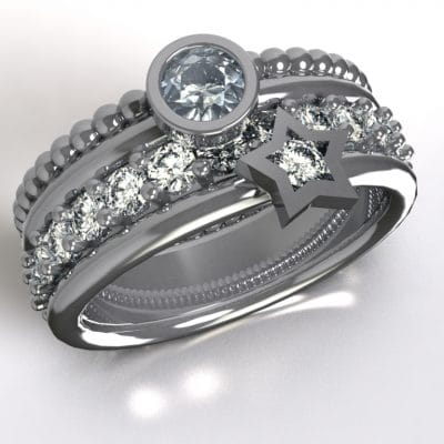 Asring a star is born Swarovski zirkonia, zilver