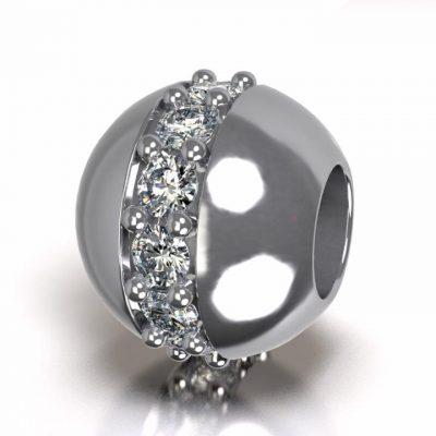 Asbedel Pandora Swarovski zirkonia, zilver
