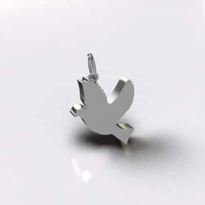Ashanger duif, zilver