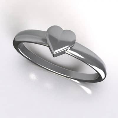 Asring smal hart, zilver