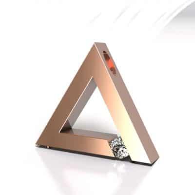 Ashanger driehoek, roségoud