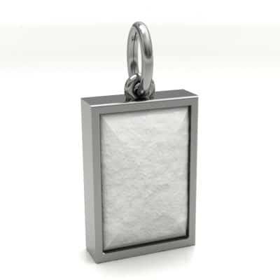 Ashanger rechthoek middel met zichtbare as, witgoud
