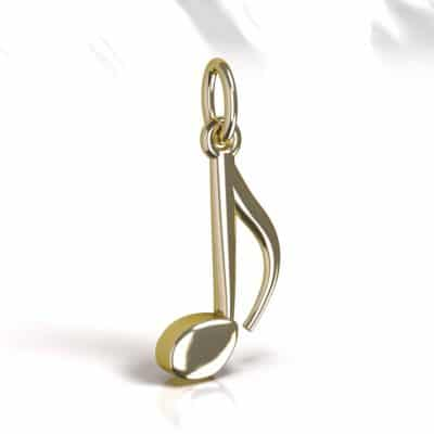 Ashanger Muzieknoot, geelgoud