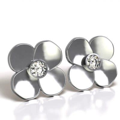 Asoorbellen bloem, zilver