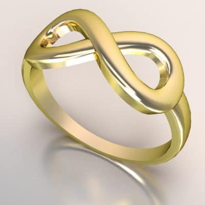Infinity ring, geelgoud