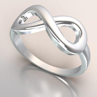 Infinity ring, witgoud