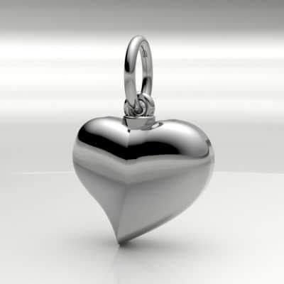 Ashanger hart klein, zilver