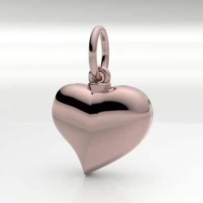 Ashanger hart klein, roségoud