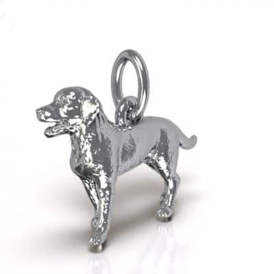 Ashanger Hond 3D, zilver