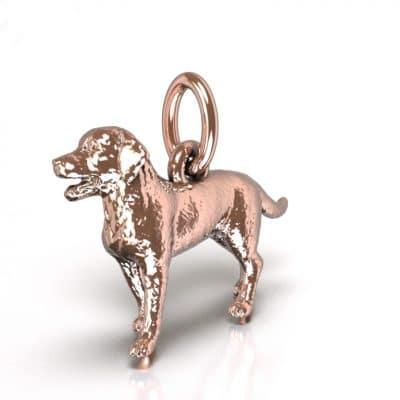 Ashanger Hond 3D, roségoud