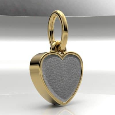 Ashanger hart klein met zichtbare as, geelgoud