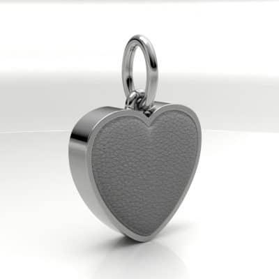 Ashanger hart middel met zichtbare as, zilver