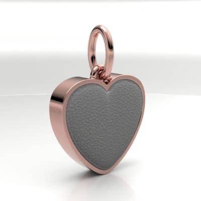 Ashanger hart middel met zichtbare as, roségoud