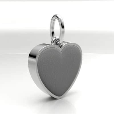 Ashanger hart middel met zichtbare as, witgoud