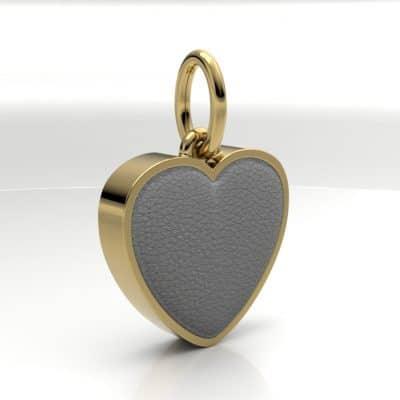 Ashanger hart middel met zichtbare as, geelgoud