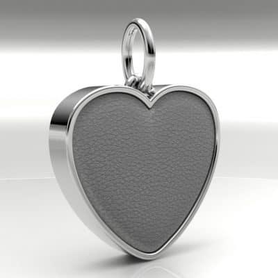 Ashanger hart groot met zichtbare as, witgoud