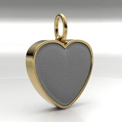 Ashanger hart groot met zichtbare as, geelgoud