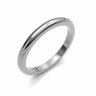 As aanschuifring glad bol smal, zilver (2,5 mm)