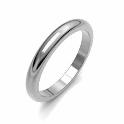 As aanschuifring glad bol middel, zilver (3 mm)