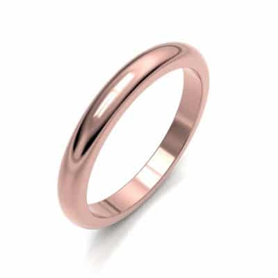 As aanschuifring glad bol middel, roségoud (3 mm)