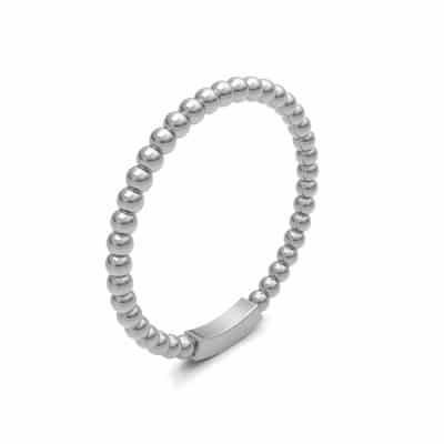 As aanschuifring bolletjes smal, zilver (2 mm)