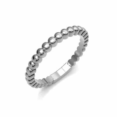 As aanschuifring bolletjes middel, zilver (2,5 mm)
