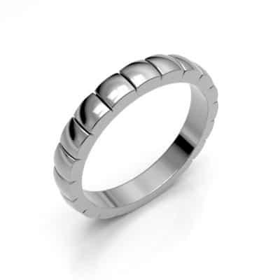 As aanschuifring vierkante blokjes, zilver (3,5 mm)